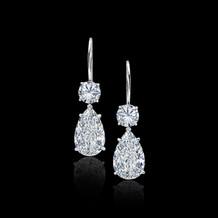 White Diamond Teardrop Earrings