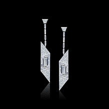 Rhomboid Diamond Deco Inspired Earrings