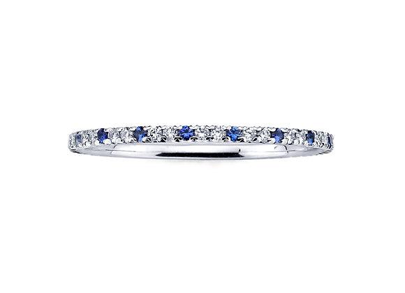 Microband White Diamond & Blue Sapphire Martin Katz