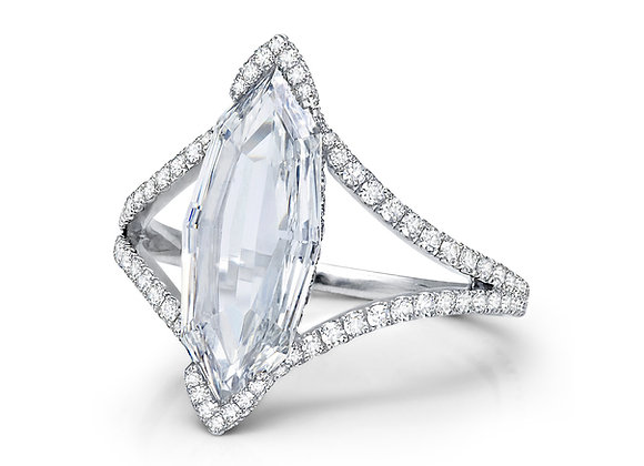 Marquise Rose Cut Diamond Ring by Martin Katz