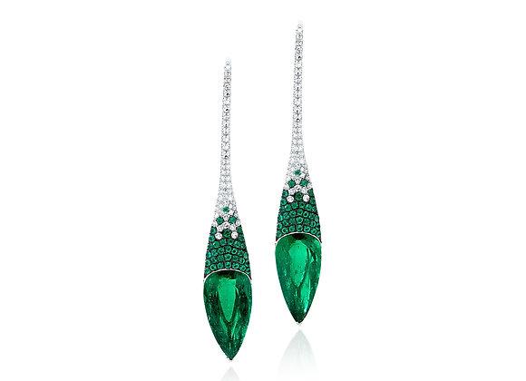 Pointe Emerald Earrings
