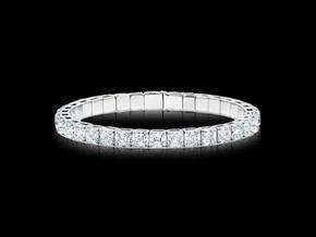 Asscher Diamond Spring Wire Bangle