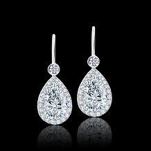 White Diamond Teardrop Earrings
