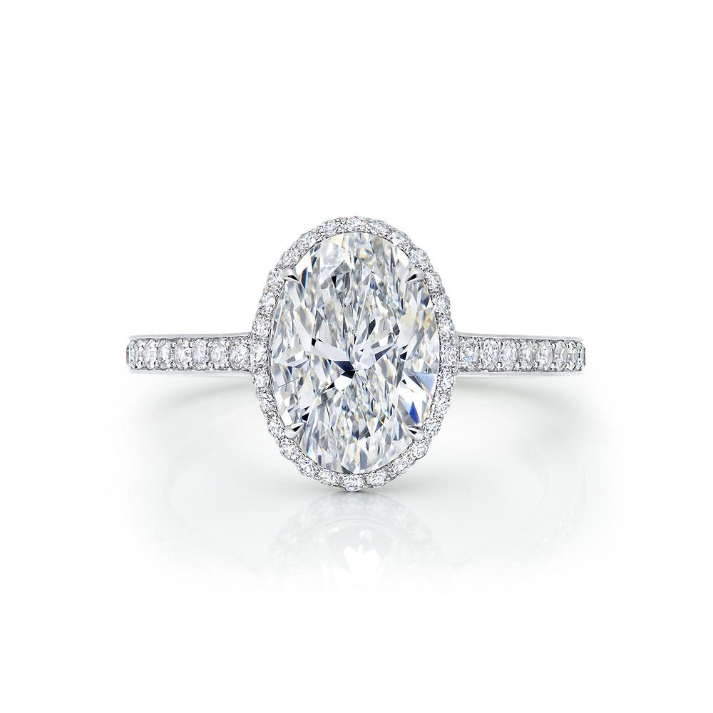 diamond ring emerald cut wedding bridal oval cut