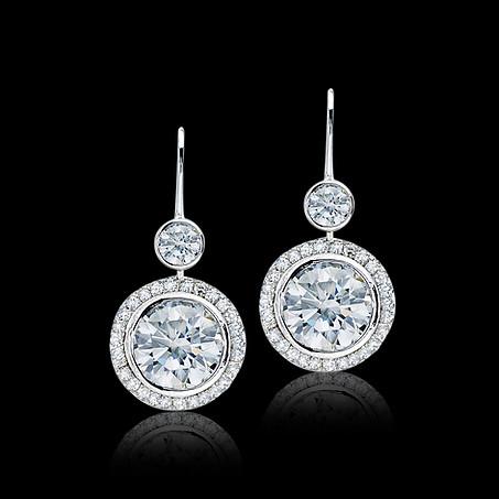Round Brilliant Diamond Earrings