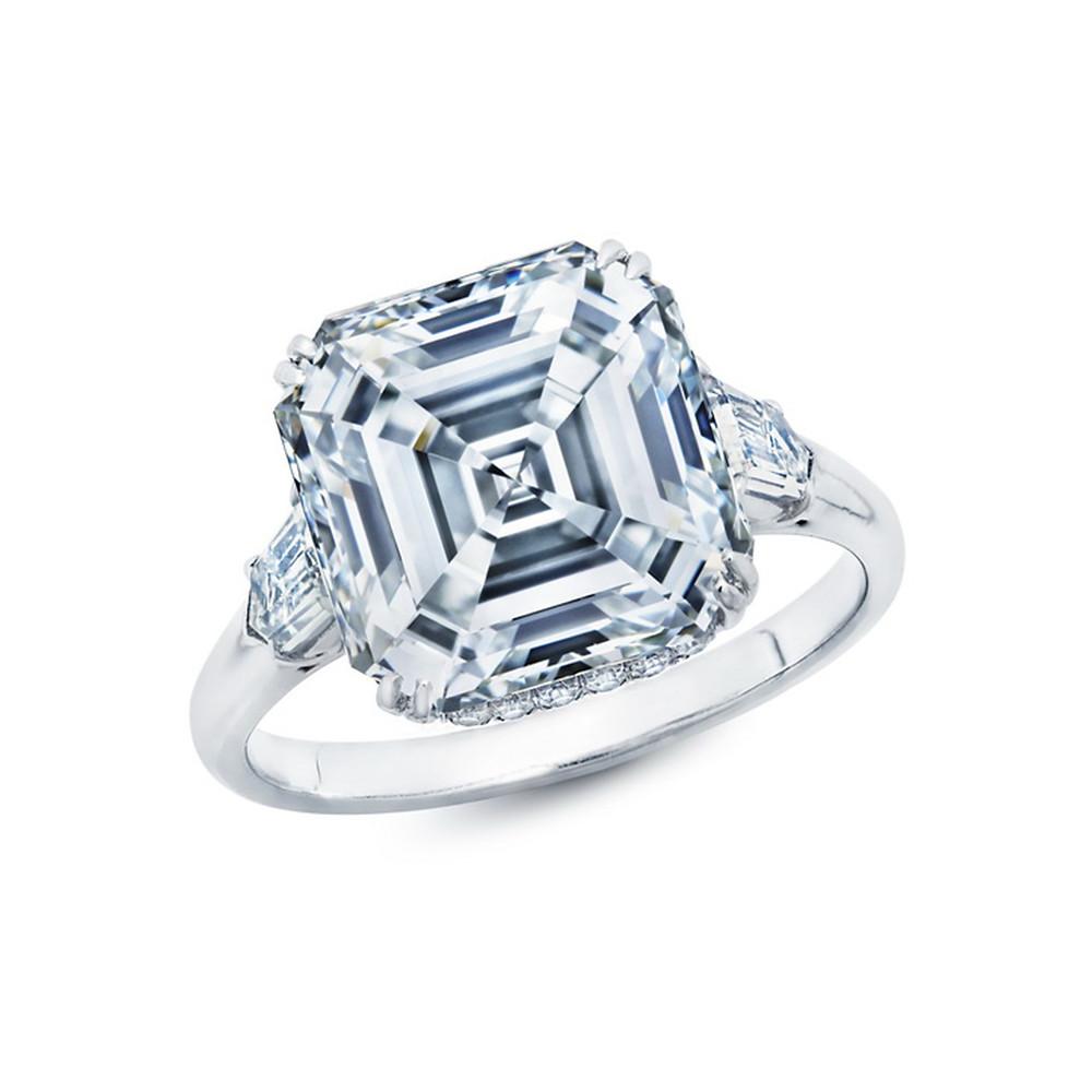 diamond ring wedding ring bridal cushion cut asscher diamond