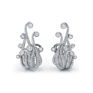 Diamond Calamari Earrings
