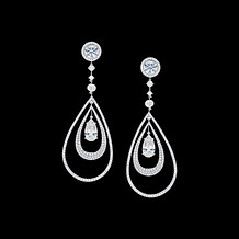 Pear Shaped Diamond Drop Earrings