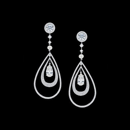 Pear Shaped Diamond Drop Earrings