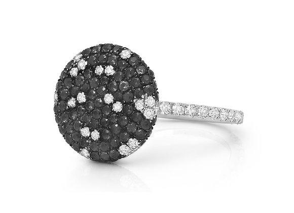 Black Diamond Pave Button Ring Martin Katz
