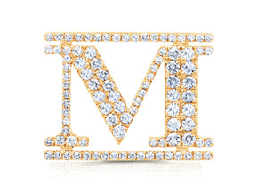 "Yellow Gold ""M"" Pin"