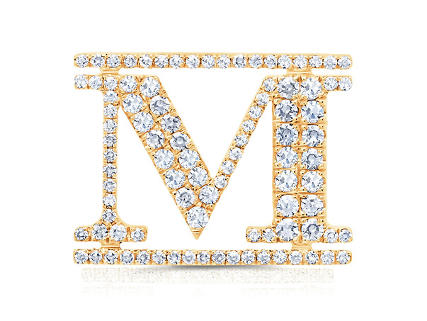 "Yellow Gold ""M"" Pin"