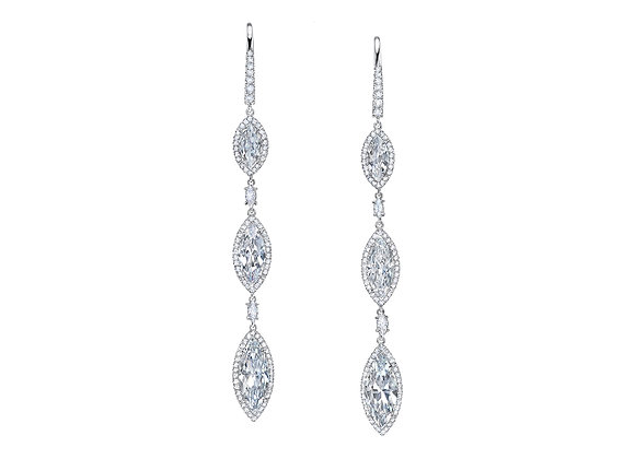 Graduating Marquise Diamond Earrings