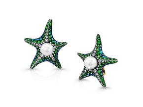 Paraiba Starfish Earrings