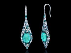 Oval Paraiba Cabochon Earrings