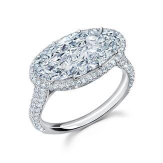 Moval Diamond Ring