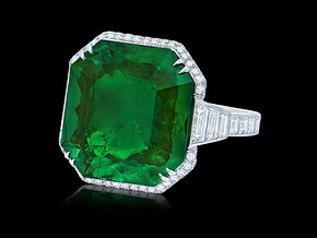 Old Mine Emerald Ring