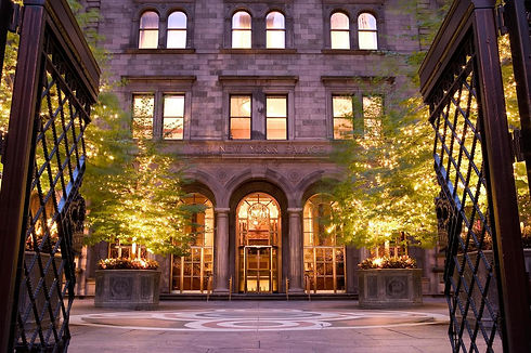 Entrance to The New York Palace Hotel