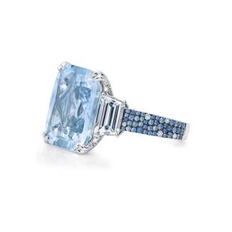 Pale Blue Sapphire Ring