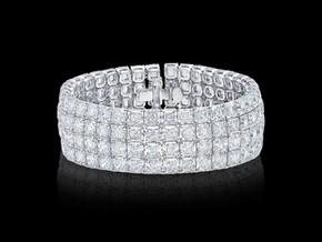Asscher Diamond Cuff