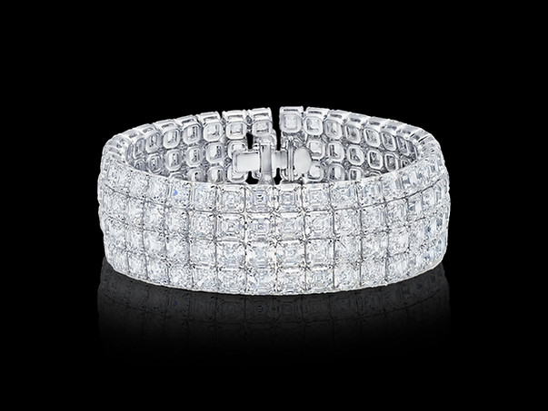 Asscher Diamond Cuff