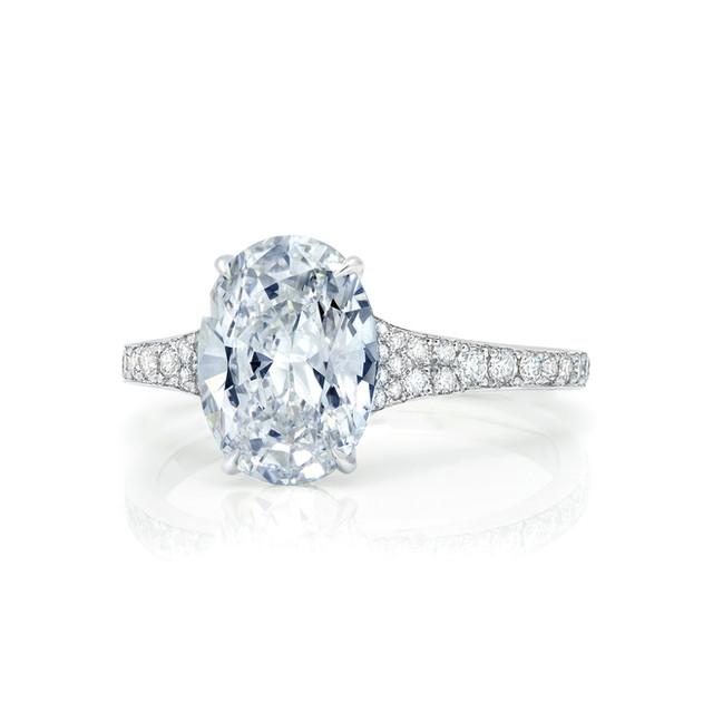 Oval Diamond Pave' Ring