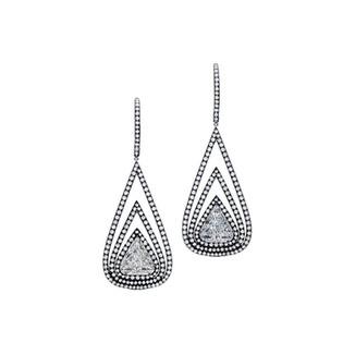 Triangular Double Framed Earrings