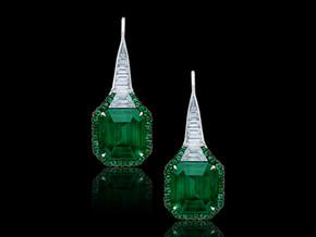 Floraison Emerald & Diamond Drop Earrings