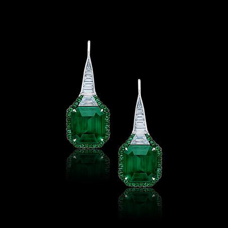 Floraison Emerald Earrings