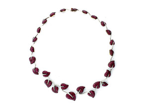 Ruby and Diamond Ivy Necklace