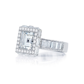 Framed Carre Diamond Ring