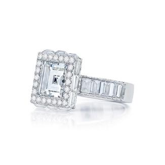 Framed Carre Diamond Ring