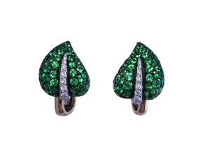 Tsavorite Ivy Earrings