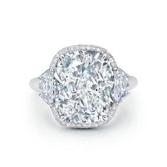 Grand Cushion Brilliant Diamond Ring