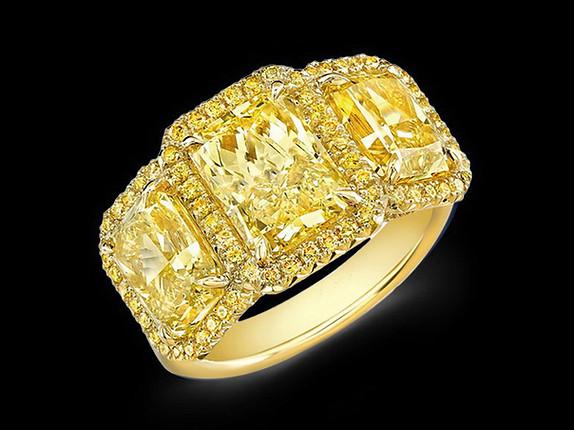 3-Stone Radiant Diamond Ring