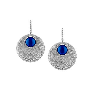 Divine Collection Blue Sapphire Earrings