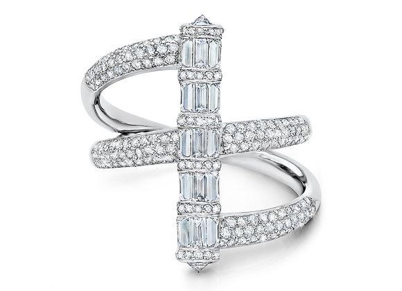 Cylinder Baguette Diamond Ring Martin Katz