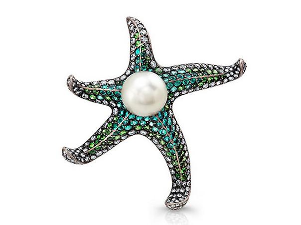 Paraiba Starfish Pin