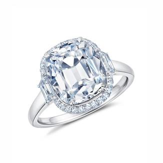 Old Miner Cut Brilliant Diamond Ring