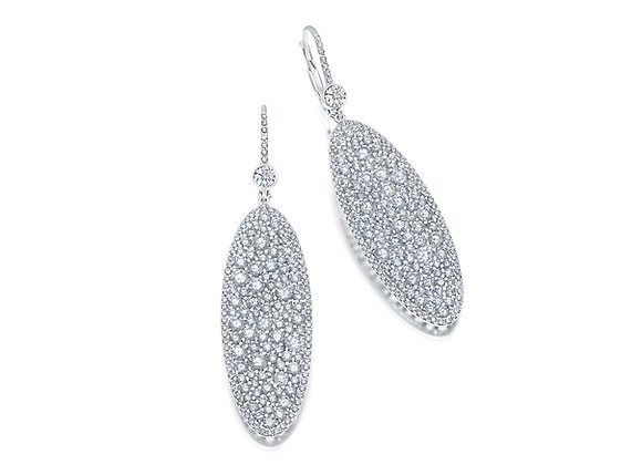 Champagne Collection Diamond Oval Earrings