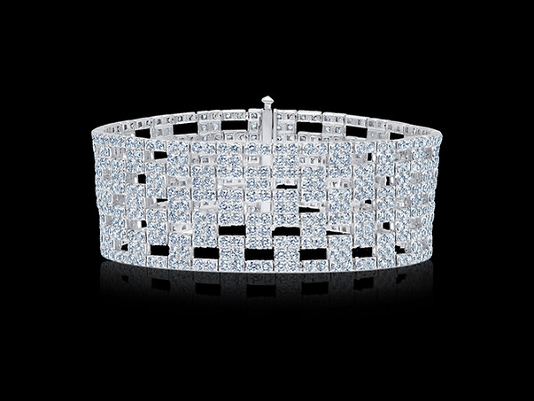 Checkered Diamond Bracelet