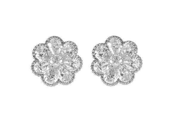 Pear Shaped Flower Earrings