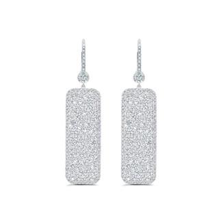 Chanmpagne Collection Diamond Rectangle Earrings