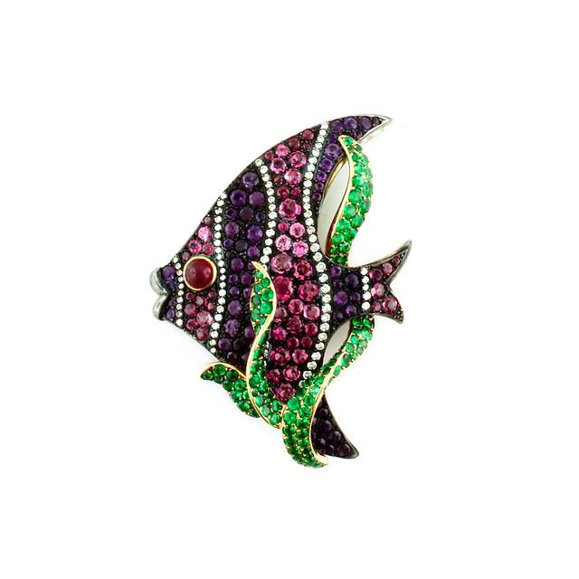 Multi-Colored Fish Pin