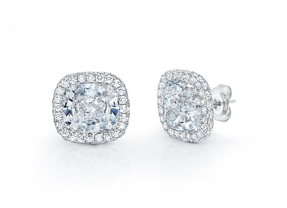 Cushion Diamond Toby Studs