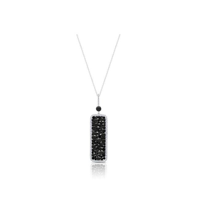 Champagne Collection Black Diamond Rectangle Pendant