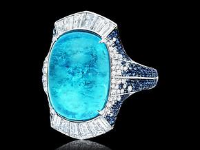 Cushion Shaped Paraiba Ring