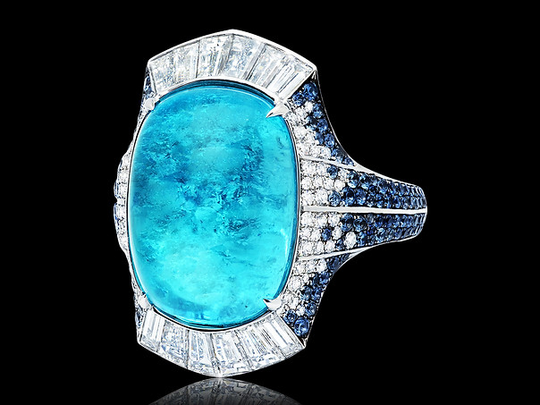Cushion Shaped Paraiba Ring