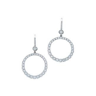 Open Circle Diamond Earrings