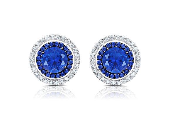Sapphire Target Stud Earrings